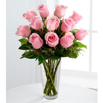 E8-4304 The Long Stem Pink Rose Bouquet by FTD® - VASE INCLUDED
